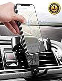 Handyhalterung Auto KFZ Handyhalter Fürs Auto Lüftung Kratzschutz 360°Drehbarem Gelenk Universal Kompatibel für iPhone8/7/6 Samsung/Huawei Smartphone (Schwarz01)