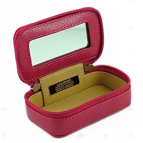 LAURIGE DURON Borsello scatola in pelle per borse o viaggio - Turchese, 9cm x 5 cm x 3.5 cm Fucsia