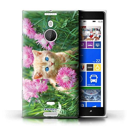 Kobalt® Imprimé Etui / Coque pour Nokia Lumia 1520 / High five conception / Série Chatons mignons Jardin