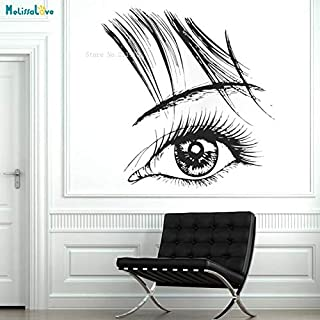 Eyelash Eyebrows Beautiful Wall Sticker Decal Beauty Salon Decor Removable Attractive Girl Murals Art Gift Exquisite YT 70x73cm
