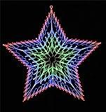 Festive 140 LED Chasing Window Light Star, Multi-Colour