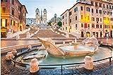 ZZXSY Jouets Bois Puzzle 1000 Pieces Place D'Espagne À Rome, Italie Puzzle Jouet en Bois Cadeau Unique Décoration Intérieure