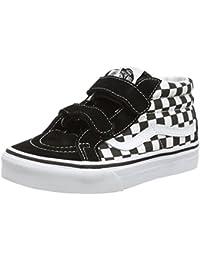 Vans Y BROOKLYN (CHECK JACQUARD - Zapatillas de cuero infantil, Gris (Gris (Check Jacquard)), 33