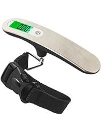 Travel Buddy LS1 2017 Balanza para Equipaje de Acero Inoxidable, Báscula portátil con correa y un estuche protector - 50 kg / 110 lb verde LED