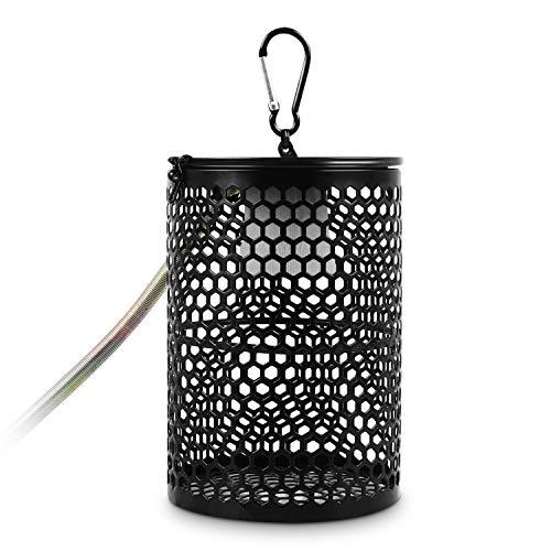 Pecute Heizlampen Schutzhülle Heizung Keramik Waermelampe mit Schutzgitter und Anti-Biss Heizstrahler Heizung Lampshade (Keine Glühbirne)