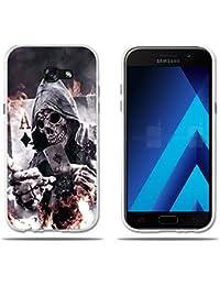 """Funda Samsung Galaxy A5 2017 Carcasa Protectora de Silicona de Calidad Superior -FUBAODA- Póker/Cráneo, Resistente a Golpes, Antipolvo, Resiste a los Arañazos Carcasa Completamente Resistente para Samsung Galaxy A5 2017 (5.2"""")"""