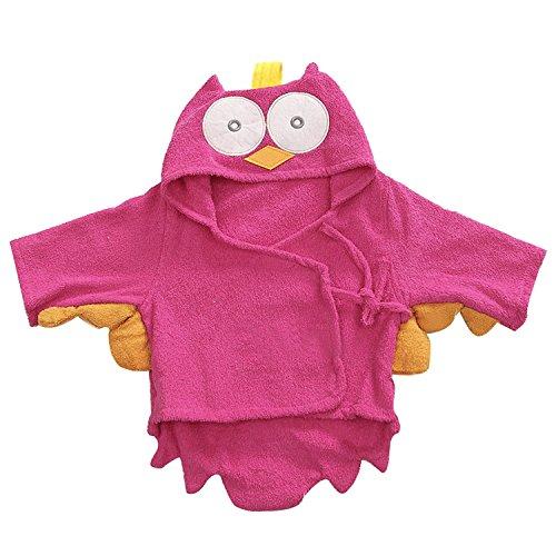 Kapuzenhandtuch Baby von Lexikind | kuscheliger Frottee Bademantel mit Tiermotiven | Babyhandtuch mit Kapuze | lustiges Kapuzenbadetuch...