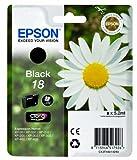 Epson Original T1801 Tintenpatrone Gänseblümchen, Claria Home Tinte, Text- und Fotodruck (Singlepack) schwarz