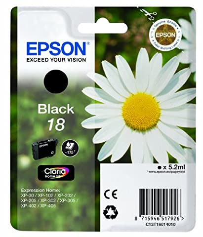 Epson XP30/ 102/ 202/ 302/ 405 Ink Cartridge - Standard, Black