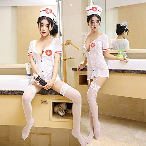 XuBa Mode weibliche exotische kostüm erwachsene frauen krankenschwester arzt kostüm cosplay outfit dessous