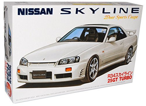 Nissan Skyline GT-R R34 25GT Turbo Coupe Silber 1998-2002 Kit Bausatz 1/24 Fujimi Modell Auto Modell Auto (Gtr R34-modell-kit)