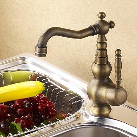 XB.TMinimalista, moderno y completamente equipada cocina, lavando los platos, todo el cobre antiguo mezcla fría y caliente, grifos, mezclador de Cuenca