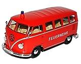VW Volkswagen T1 Feuerwehr Rot Samba Bully Bus 1950-1967 1/24 Welly Modell Auto