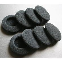 33Malls 20unidades (10pares) Negro Repuesto Almohadillas Para Auriculares (40mm 50mm 58mm 65mm, 80mm)