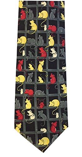 The Tie Studio NovitÀ cravatta con topi e mouse design