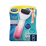 Scholl Lima Electrónica para pies Velvet Smooth con Cabezal Exfoliante, Color Rosa