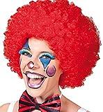 Perücke Luxus Clown rot