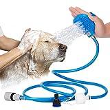 Yujiny Pet Badewerkzeug | Haustier Dusche Sprayer Und Scrubber In-One, Dusche Badewanne Und Outdoor Gartenschlauch Kompatibel, Hund Katze Pferd Grooming