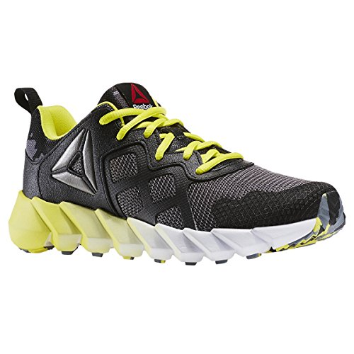 Reebok Exocage Athletic GR Cuir Chaussure de Course Black-Gry-Hero Yellow-Wht