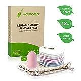 HOPOSO Abschminkpads Waschbar 12 Stück