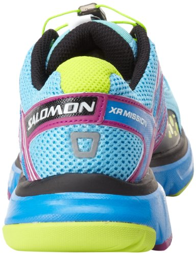 Salomon XR Mission L32703500, Scarpe da corsa donna Blu (Blau (Scoblu/Verypurple/Pop Green))