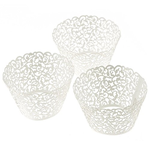 Tonsee 100pcs neue kleine Rebe Lace Laser geschnittene Cupcake Wrappers Liner Cup Muffin (Maker Kostüm Cupcake)