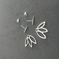 Selia Lotus Blüte Ohrstecker Ohrring Silber minimal Blume Modeschmuck, schmuck, geschenk, studs, handgemacht