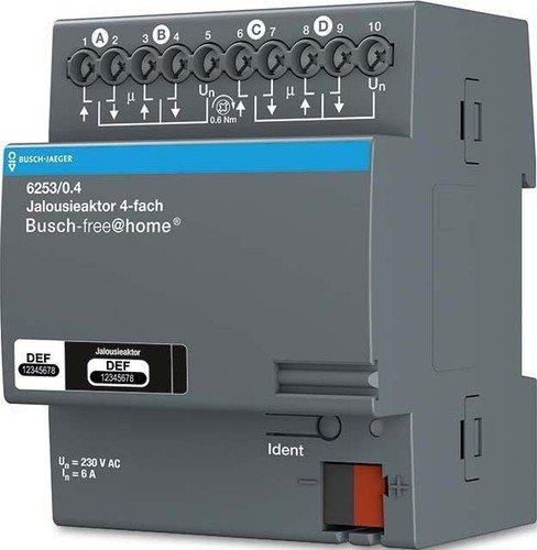 Busch-Jaeger Jalousieaktor 4-fach 6253/0.4 REG Busch-free@home Bussystem-Jalousieaktor 4011395180440