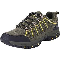 Botas de Senderismo para Hombre,Zapatos de Senderismo al Aire Libre Zapatos de Trabajo Zapatos de Escalada Zapatillas de montaña Ideal para Deportes Caminar Caza atlético Adecuado para Hombres