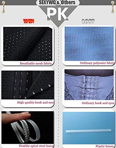 SEXYWG Donna Tummy Dimagrendo Shapewear Cintura Traspirante Vita Training Cincher Black