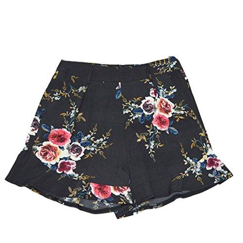 ESAILQ Shorts Women Sexy Skirt Summer Print Short Pants Sports Workout