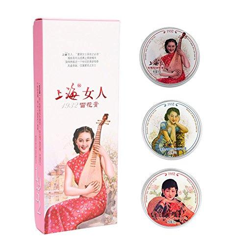 Hautpflegecreme, 3 teile/satz SHANGHAI Classic Vanishing Cream Feuchtigkeitsspendende Feuchtigkeitsspendende Whitening Hautpflege Geschenkset -