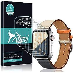 TAURI Protection Écran pour Apple Watch Series 4 44mm [6 Pièces] Liquide-Peau [Installation de l'eau] HD Clair TPU Film Protection [sans Bulle] [Installation d'eau]