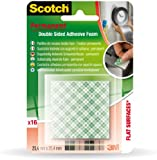 Scotch PMS1625 Schaummontagestück, 450 g (25.4 x 25.4 MM in Blister Packaging with 16 Items White