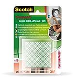 Scotch 70005090249 Cuadraditos Sustituya Clavos y Tornillos, Set de 24 Piezas