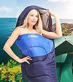 Sac de Couchage Explorer Bleu Adulte pour Les Voyages en Plein air, 1.1KG Bleu foncé