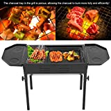 Cocoarm Holzkohlegrill BBQ Grill aus Edelstahl Picknickgrill Campinggrill H?henverstellbar f¨¹r Party Garten Camping Grillfl?che Gro? 83 * 32 * 48-58 cm