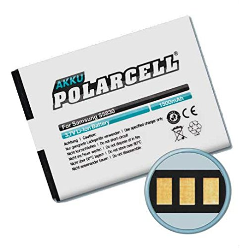 Batteria Polar Star cell batteria per Samsung Galaxy Ace, s Mini, S5830 (1500 mAh/Li-ion) EB494358VU, EB464358VU