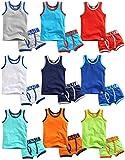 Vaenait Baby 86-122 Kinder Jungen 2 Teilen Unterwaesche Unterhemd Boxer Brief Set Days Orange M