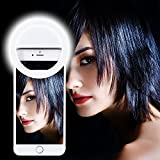 Ultra Aura Selfie Ring Light 36 LED Flash for Mobile, iPhone,iPad, Samsung Galaxy, Android, Smart Phones, Laptop, Camera Photography, Video(White)