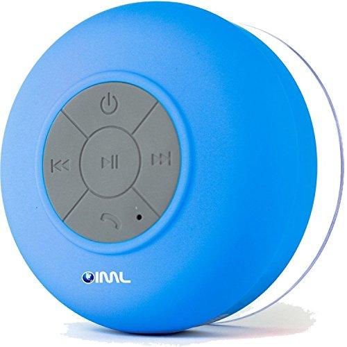 oiml Bluetooth Cassa Altoparlante Speaker Azzurro a Ventosa Impermeabile X Cellulare