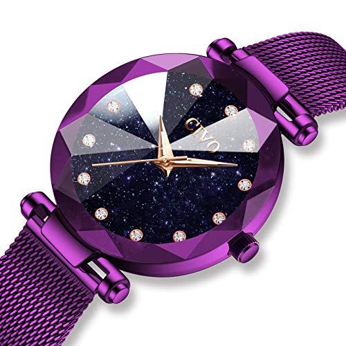 CIVO Relojes para Mujer Reloj Damas de Malla Impermeable Elegante Lujo Banda de Acero Inoxidable Relojes de Pulsera Mujers Moda Vestir Negocio Casual Reloj de Cuarzo