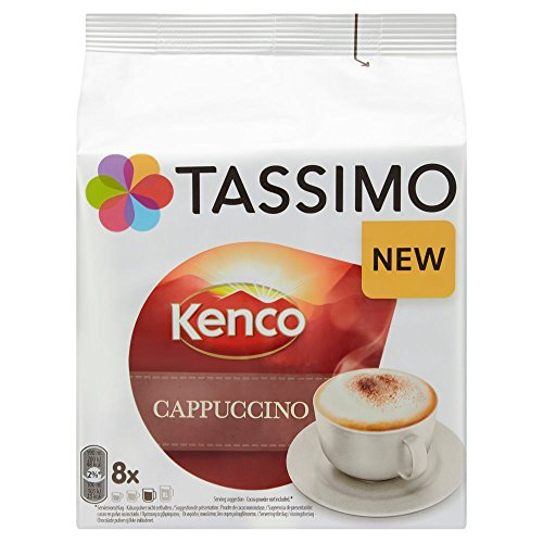 Get Tassimo Kenco Cappuccino Coffee, 260 g (Pack of 5, Total 80 T discs/pods, 40 servings) - JDE