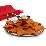 [Sponsored Products]Sharda Corporation Steel Chip And Dip Hammered Dip Plate / For Snacks Serving & Food Presentation At Home, Hotel, Restaurant, Kitchen Serving Accessories