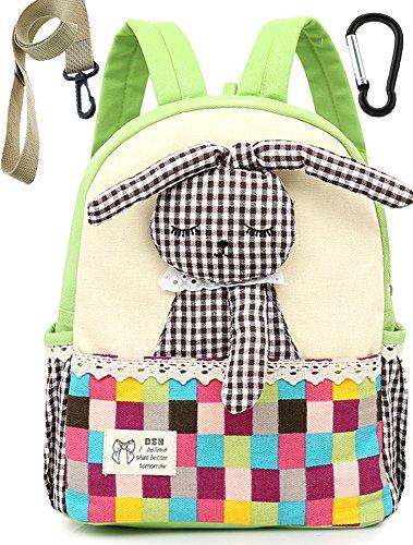 Imagen de  infantil bebes guarderia niños escolar tela conejo mascotas preescolar bambino saco verde niña