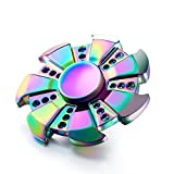 #9: Photron PH-FDM50 Chakra METAL Fidget Hand Wind Spinner With Stainless Steel Bearing [Rainbow WindFire] with Metal Box