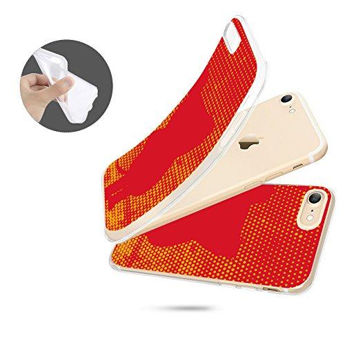 FINOO   Iphone SE Silikon-Handy-Hülle   Transparente TPU Cover Schale   Tasche Case mit Slim Rundum-schutz   stoßfester dünner weicher Bumper   Sendung mit der Maus Motiv   Maus schwarz Maus rot