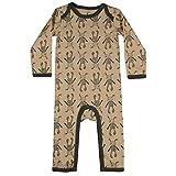 Small Rags Mädchen Langarm Baby- und Kinder Schlafanzug, 100% Baumwolle, Rosé-Grau, Gr. 80, Real Romper Misty Rose 60091 02-48