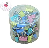 JUNGEN 60 Pinces 15 mm Assorties Mini Organisateur Pinces à Dessin de Papier Couleurs(1 boîte)