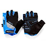 Fahrradhandschuhe meteor GEL GX30 Blau für Radsport MTB Road Race Downhill Wandern und andere Sports (XL, Blau)